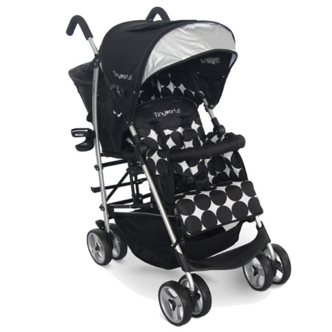 Tiny World Tandem Stroller - Black
