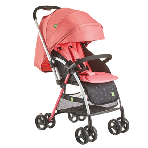 Happy Dino Reversible Stroller - Red