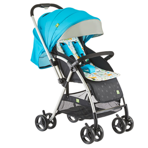 Happy Dino Reversible Stroller - Blue