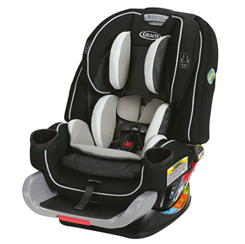Graco 4Ever Extend2Fit All in One Convertible Car Seat - Clove (Birth - 54.5kg) USA