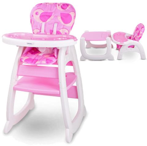 Baby 2 in 1 High Chair - Pink