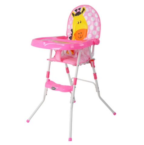 BBH Baby High Chair & Booster Seat - Pink