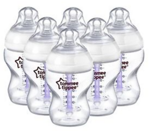 Tommee Tippee Advanced Comfort Vented Bottles 260ml (6 Bottles)