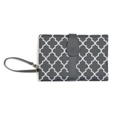 Baby Nappy Diaper Changing Clutch - Grey