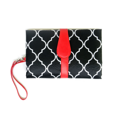 Baby Nappy Diaper Changing Clutch - Black