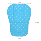 Baby Stroller Pad - Blue
