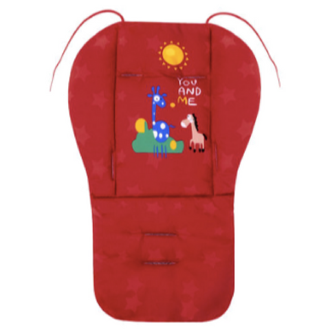 Baby Premium Stroller Pad - Red