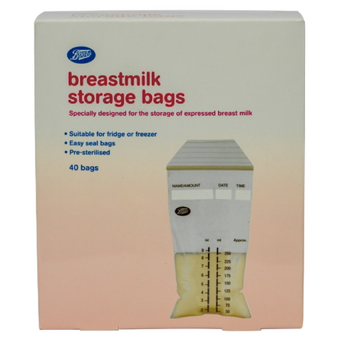 Boots Breast Milk Bags 250ml 40s - Thailand Version
