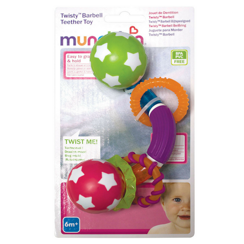 Munchkin Twisty Barbell Teether Toy