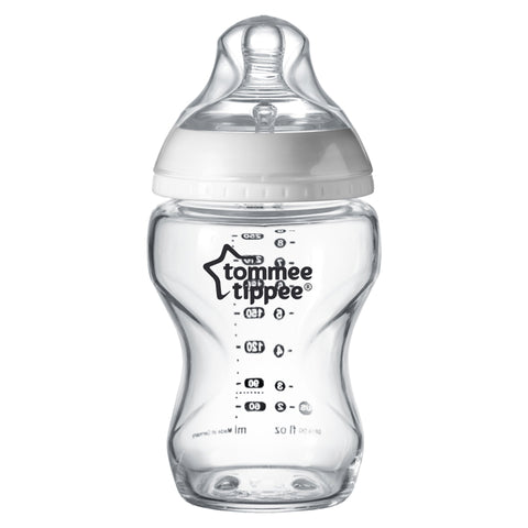 Tommee Tippee Closer to Nature Glass Bottles 250ml (1 Bottle)