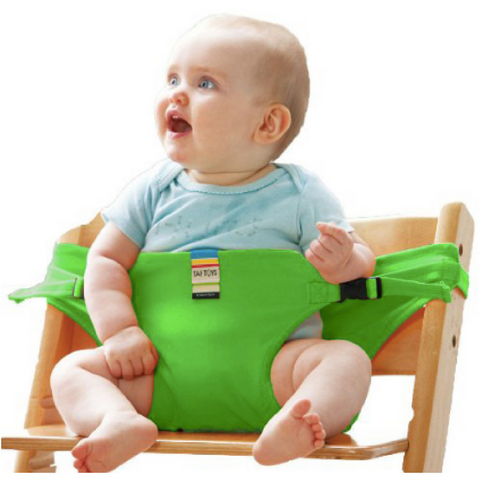 Portable Feeding Seat Harness - Green