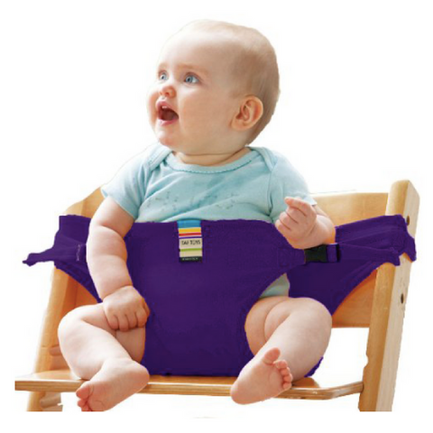 Portable Feeding Seat Harness - Purple