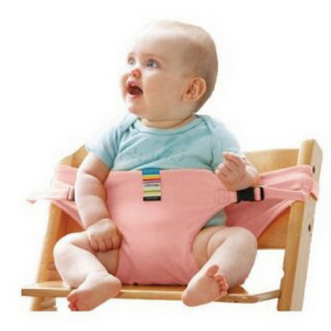Portable Feeding Seat Harness - Pink