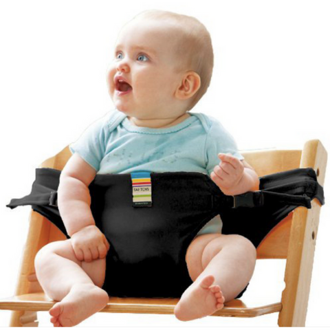 Portable Feeding Seat Harness - Black