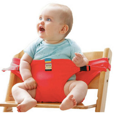 Portable Feeding Seat Harness - Red