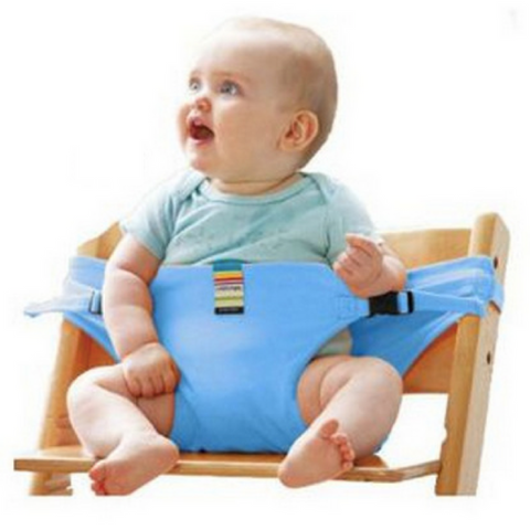Portable Feeding Seat Harness - Blue