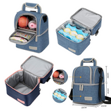 V-Coool Double Layer Cooler Bag - Blue Peach
