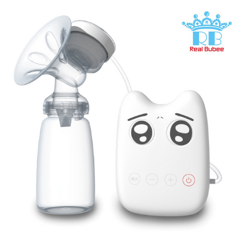 Real Bubee Single Electric Breast Pump - White