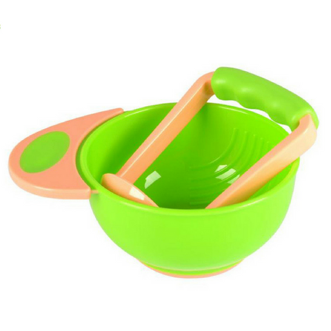 Baby Food Grinder/Masher - Green/Orange