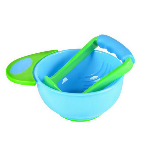 Baby Food Grinder/Masher - Blue/Green