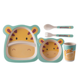 Bamboo Fiber Tableware 5pcs Set - Giraffe