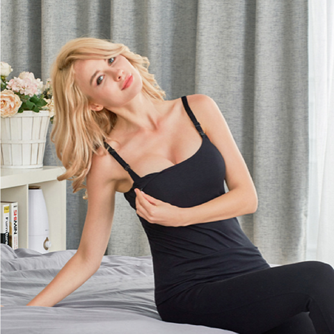V-Coool Nursing Top - Black