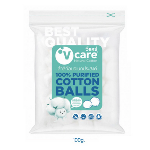 V-Care Cotton Balls 100g