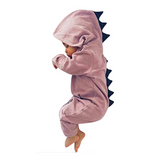 Baby Non-footed Jumpsuit with Hoodie - Pink