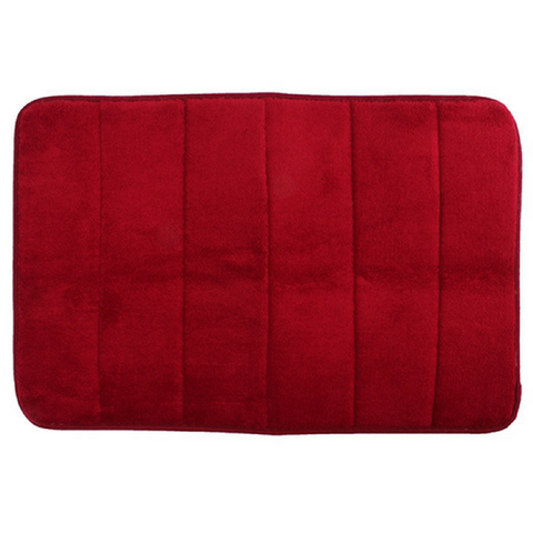 Memory Foam Floor Bath Mat - Burgundy