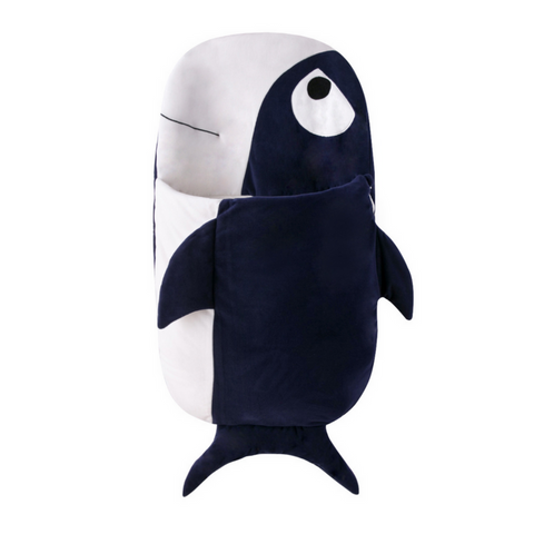 Sleeping Bag (Fish) 105cm - Navy Blue