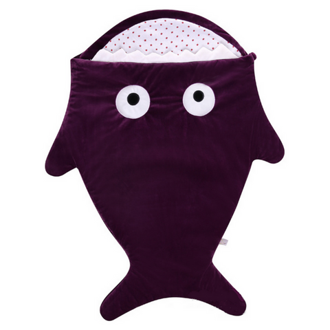 Sleeping Bag (Shark) - Purple