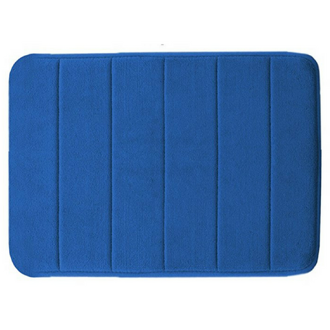 Memory Foam Floor Bath Mat - Dark Blue