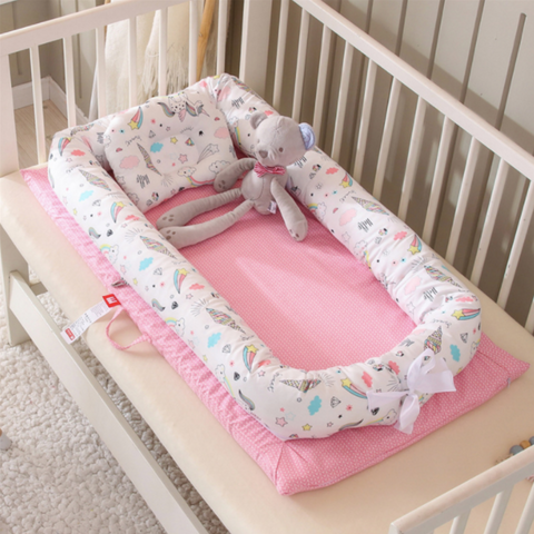 Baby Lounger Bed - Pink Unicorn
