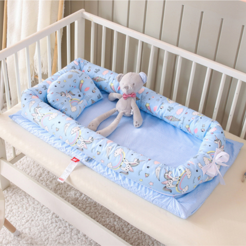 Baby Lounger Bed - Blue Unicorn