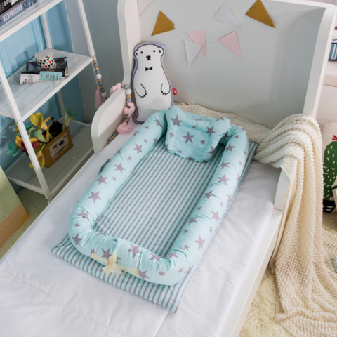 Baby Lounger Bed - Blue Star