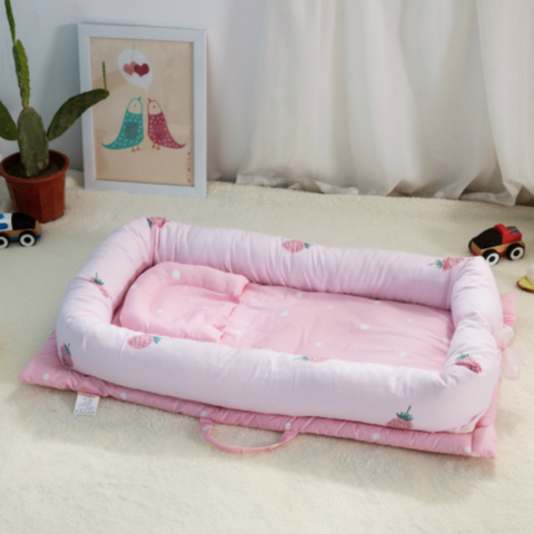 Baby Lounger Bed - Strawberry
