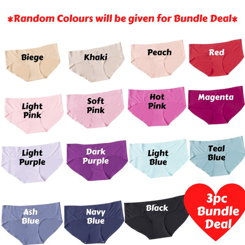 Maternity Panties - Ice Silk (3PC Bundle Deal)