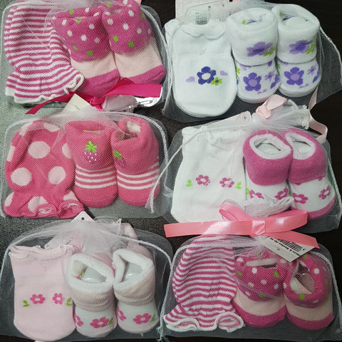 Mittens & Booties Set (Girl)