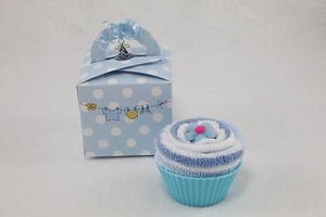 Baby Boy Sock Cupcake - Tiny Togs Ltd