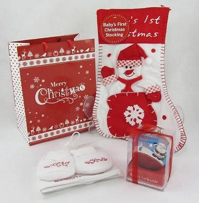 Baby's First Christmas Gift Set - Tiny Togs Ltd