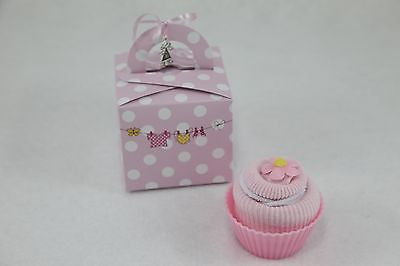 Baby Girl Sock and Wash Cloth Cupcake - Tiny Togs Ltd