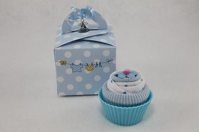 Baby Boy Sock and Wash Cloth Cupcake - Tiny Togs Ltd