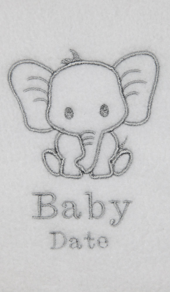 Personalised Elephant Blanket - Tiny Togs Ltd