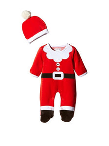 Cute Baby Father Christmas Santa Outfit - Tiny Togs Ltd