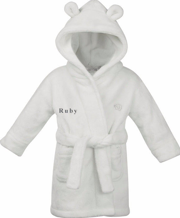 Personalised Dressing Gown Size 0-6 months in variety of colours