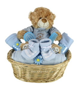 Baby Boy Gift Basket Hamper with Cute 'It's a Boy' Teddy - Tiny Togs Ltd