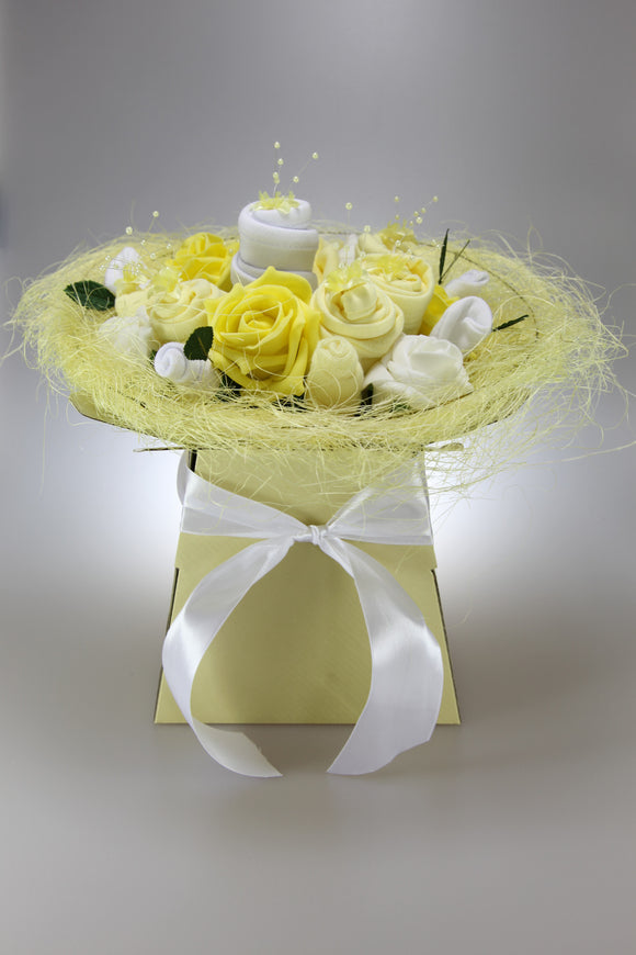 Neutral Clothes Flower Bouquet in Lemon - Tiny Togs Ltd