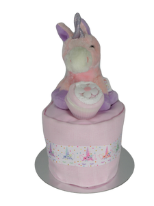 Magical Unicorn Single Tier Nappy Cake - Tiny Togs Ltd