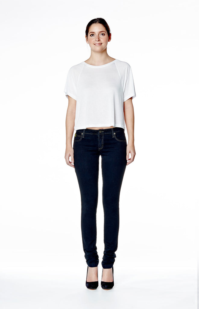 Mid Rise Skinny Jean - Ink