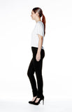 High Rise Skinny Jean Long - Overdye Black